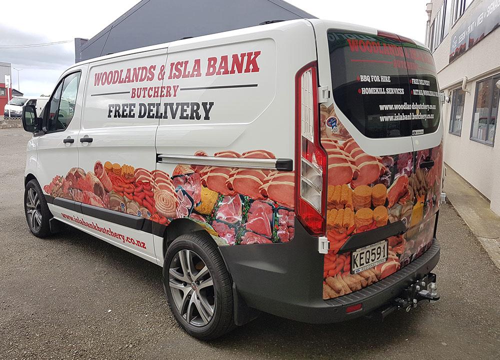 Woodlands Butchery Van Signage