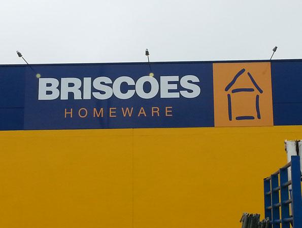 Briscoes Building Signage